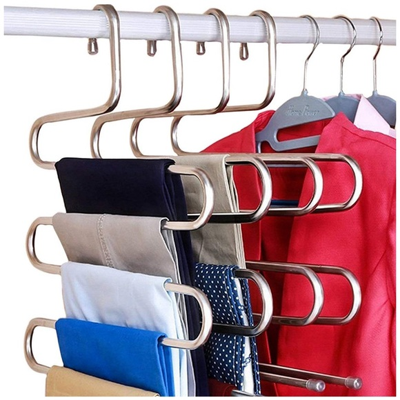 3 Pieces Stainless Steel Clothes Hangers Closet